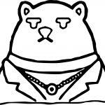 Koslov Bear Zootopia Basic Coloring Page