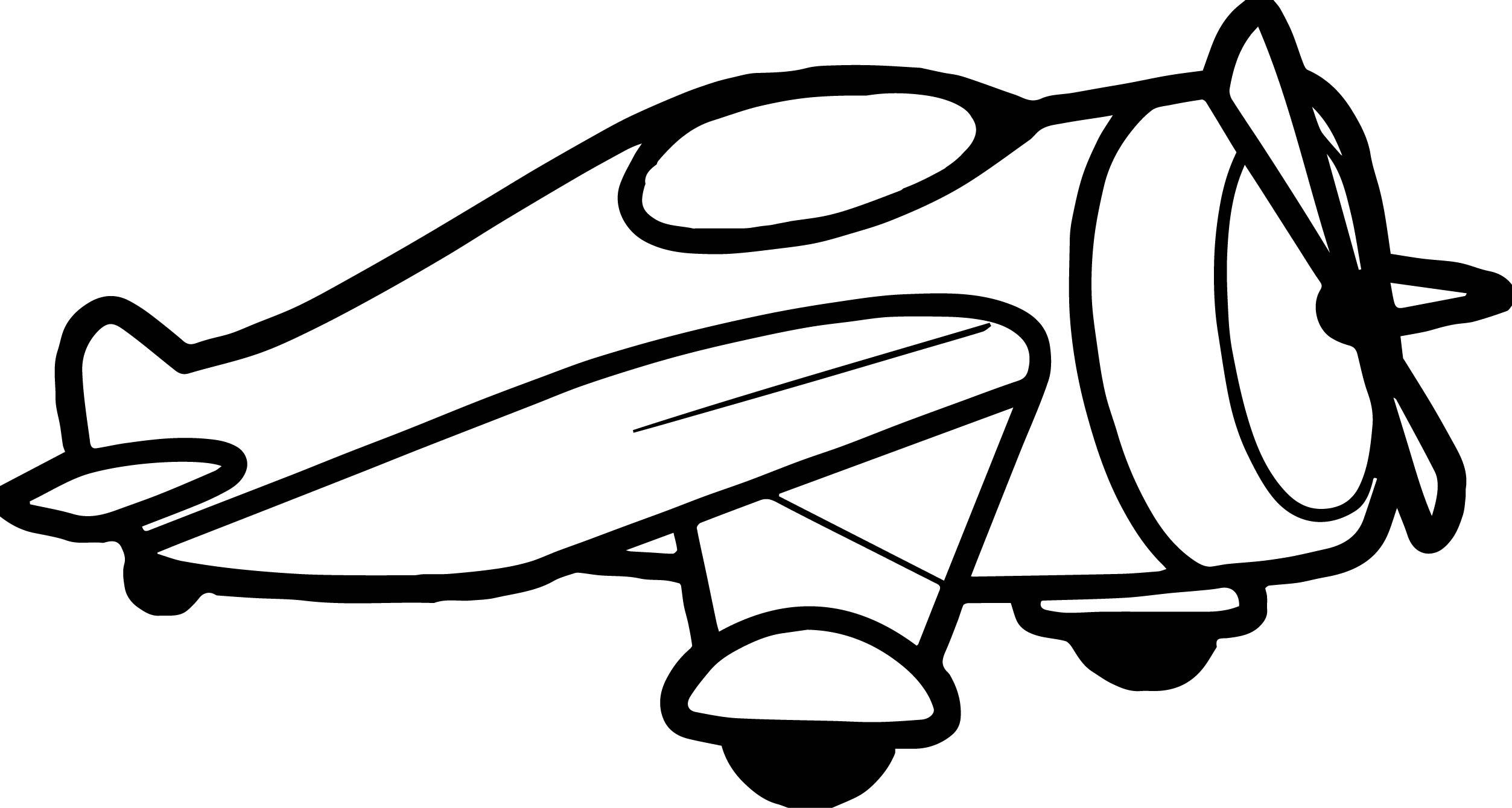 Large Funny Airplane Ubuplane Coloring Page