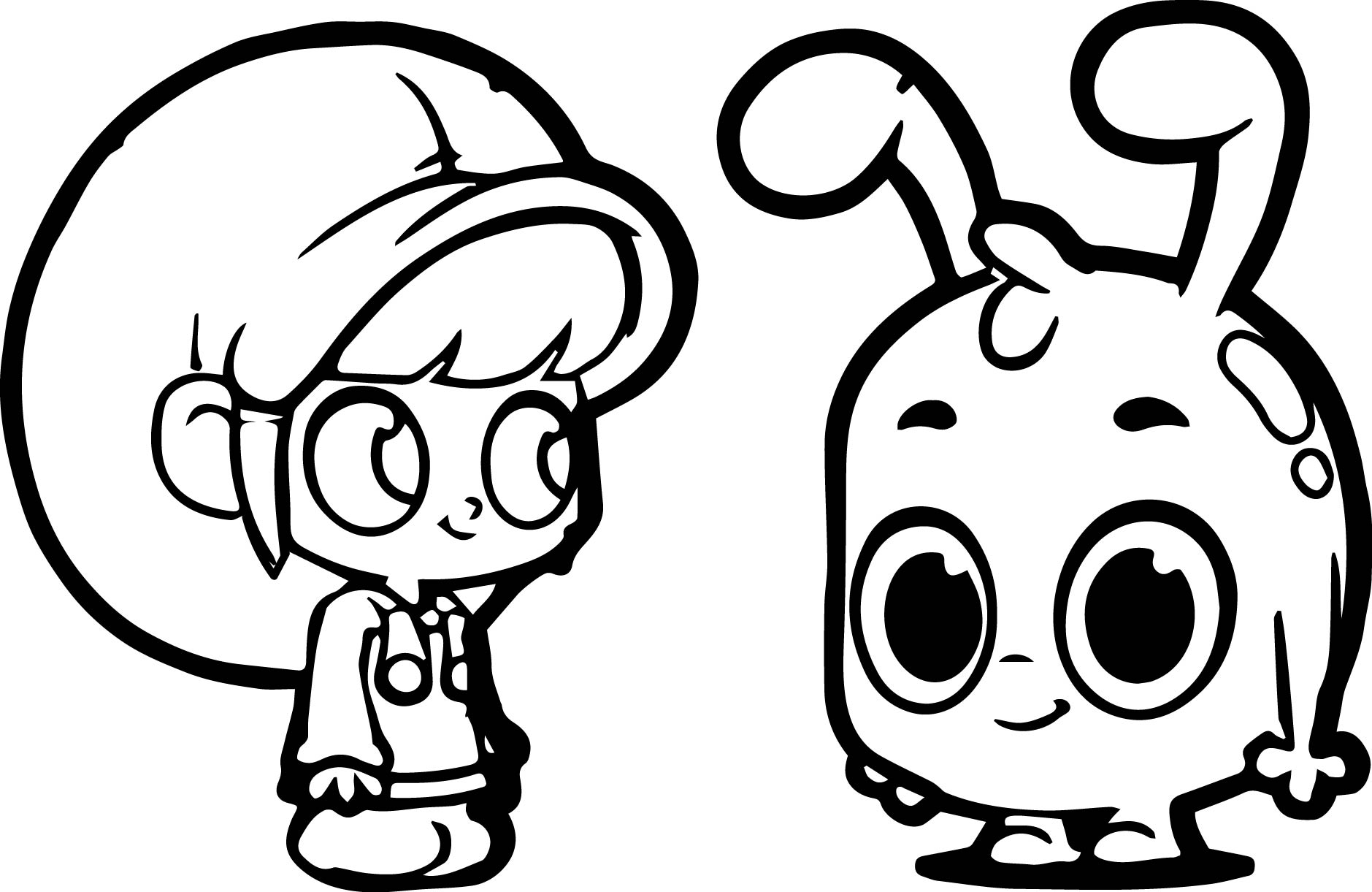 Mila And Mophle Flat Smile Coloring Pages