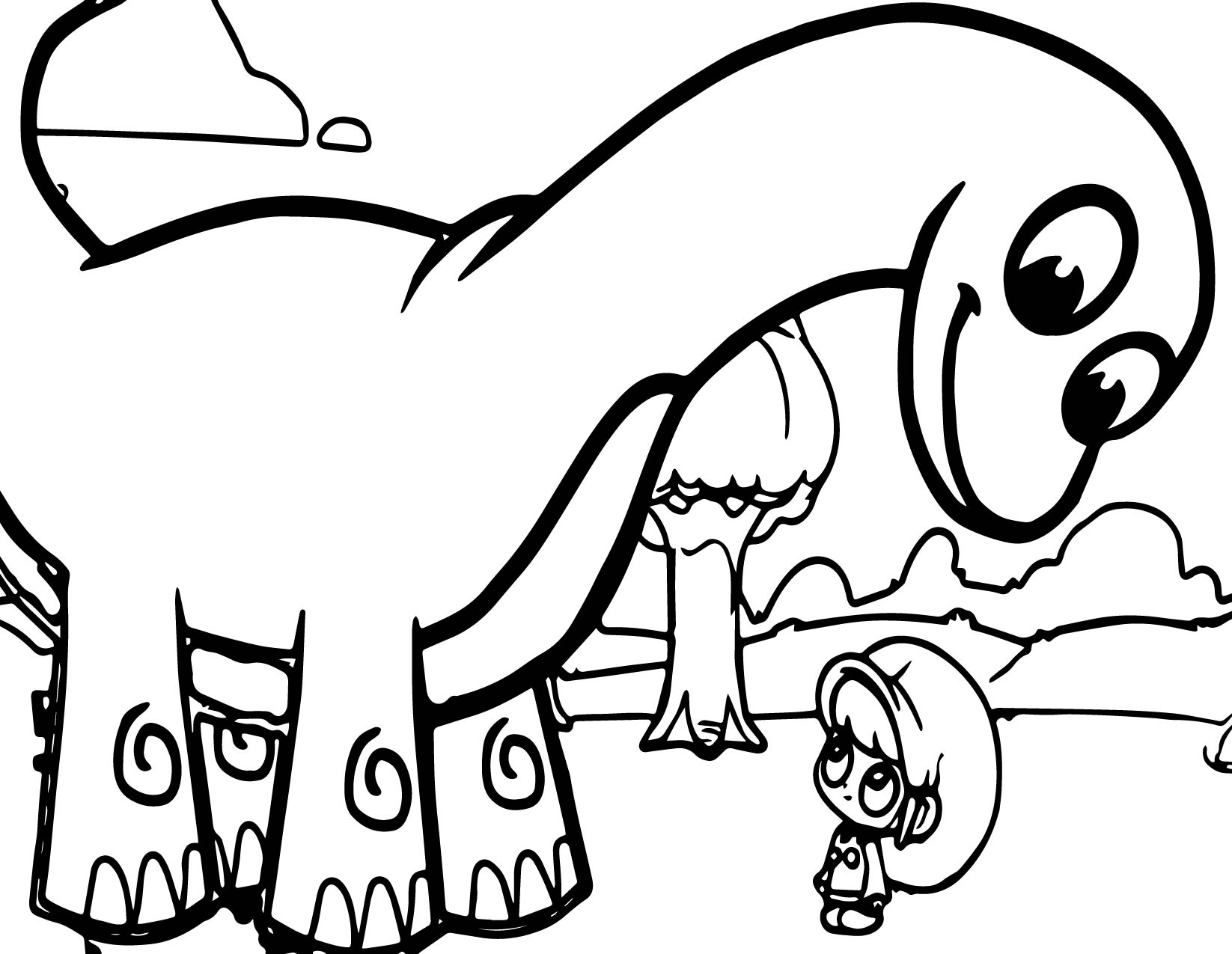 Mila And Mophle My Cute Dinosaur Coloring Pages