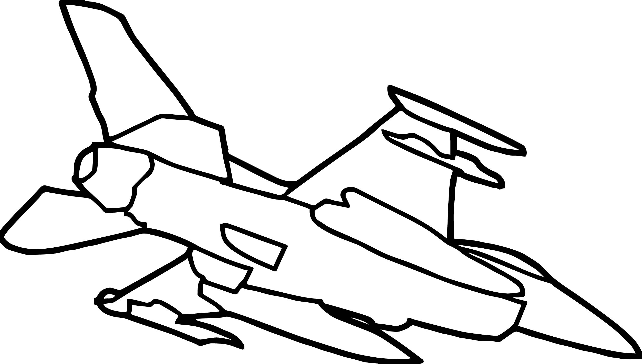 Military Fighter Plane Hi Coloring Page