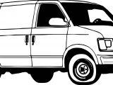 Minibus Van Coloring Page