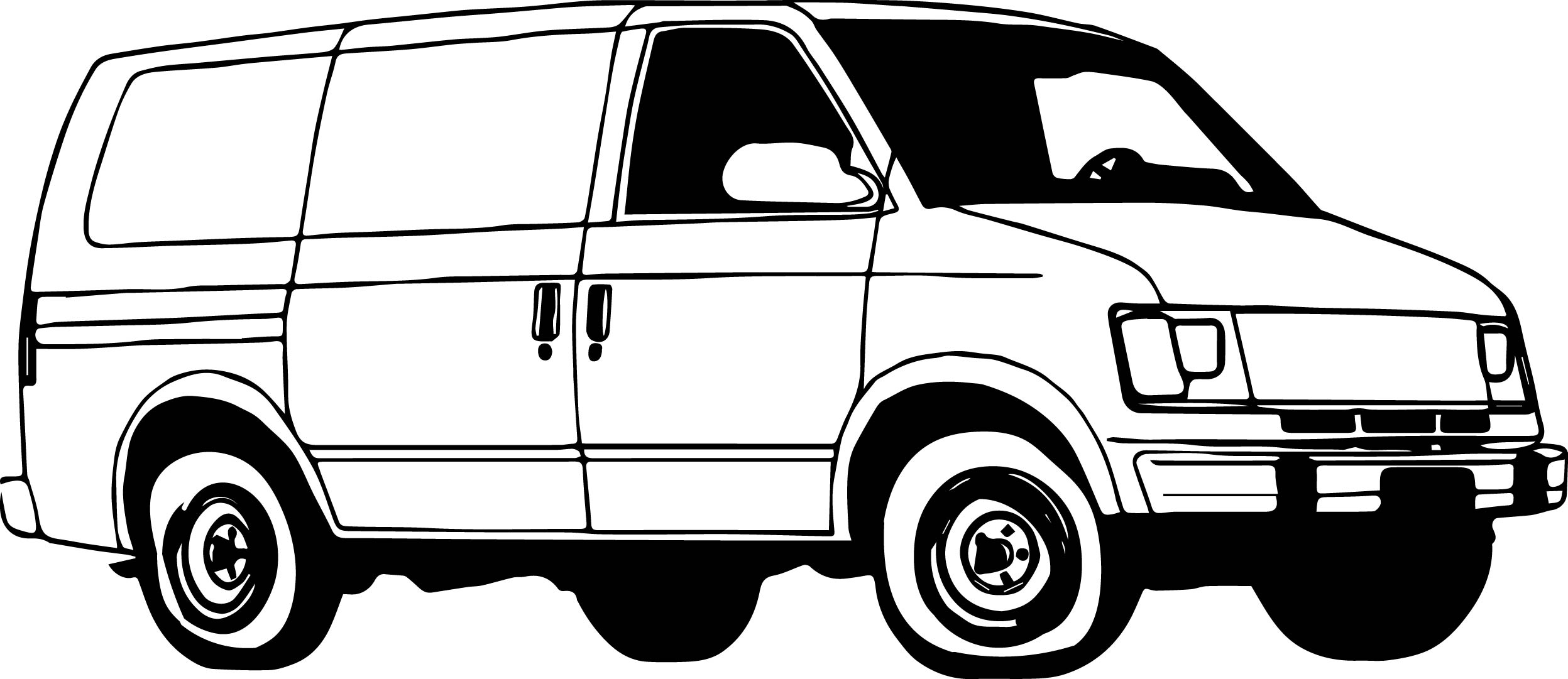 Coloring pages van - Minibus Van Coloring Page