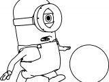 Minion Play Ball Coloring Page