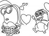 Minions Girl Coloring Page