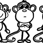 Monkey 3rd Grade Coloring Page