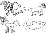 Mophle My Cute Animals All in One A4 Free And Printable Coloring Page