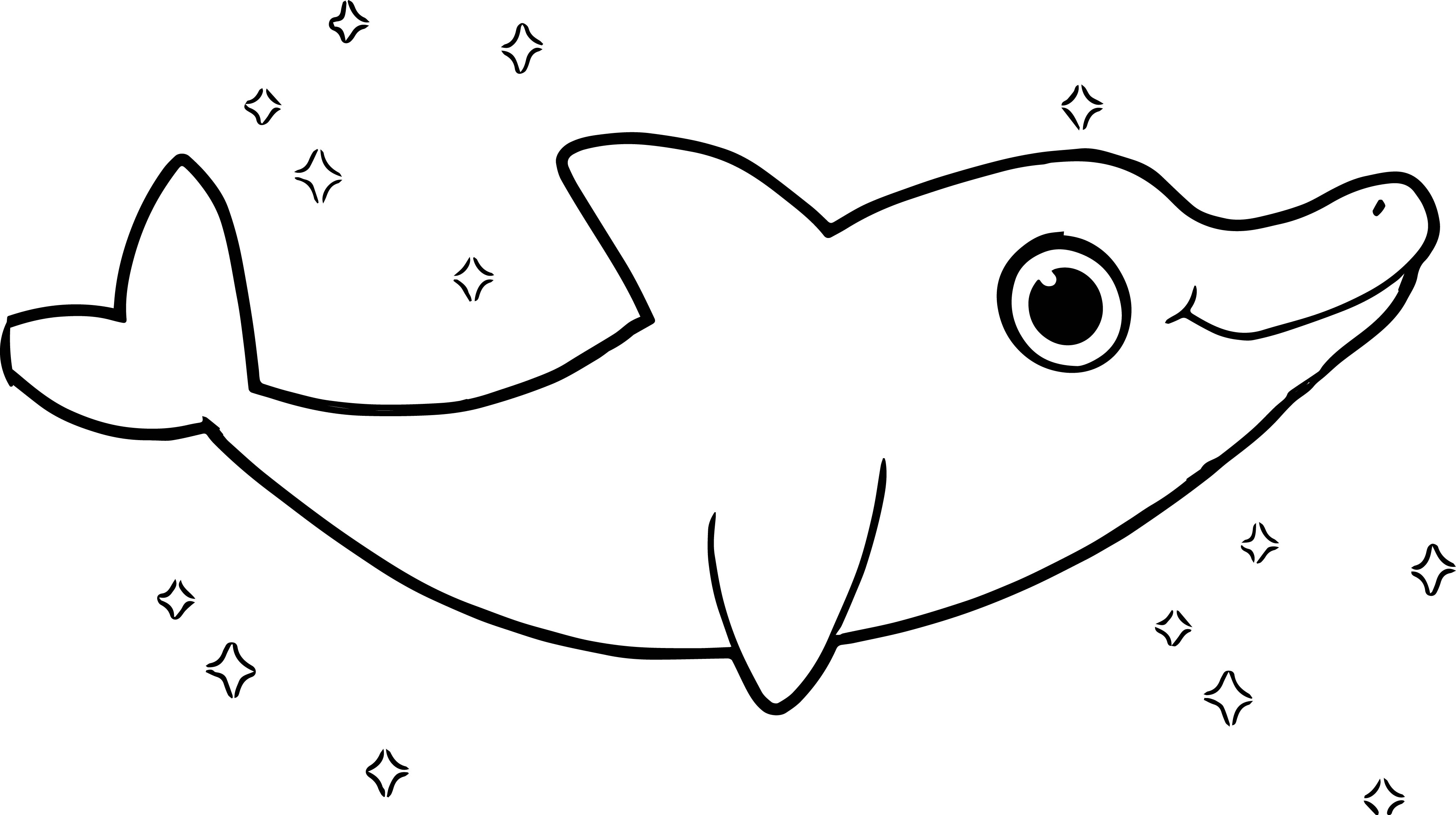 Mophle My Cute Dolphin Coloring Pages