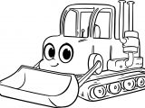 Morphle Cartoon My Cute Bulldozer Coloring Page
