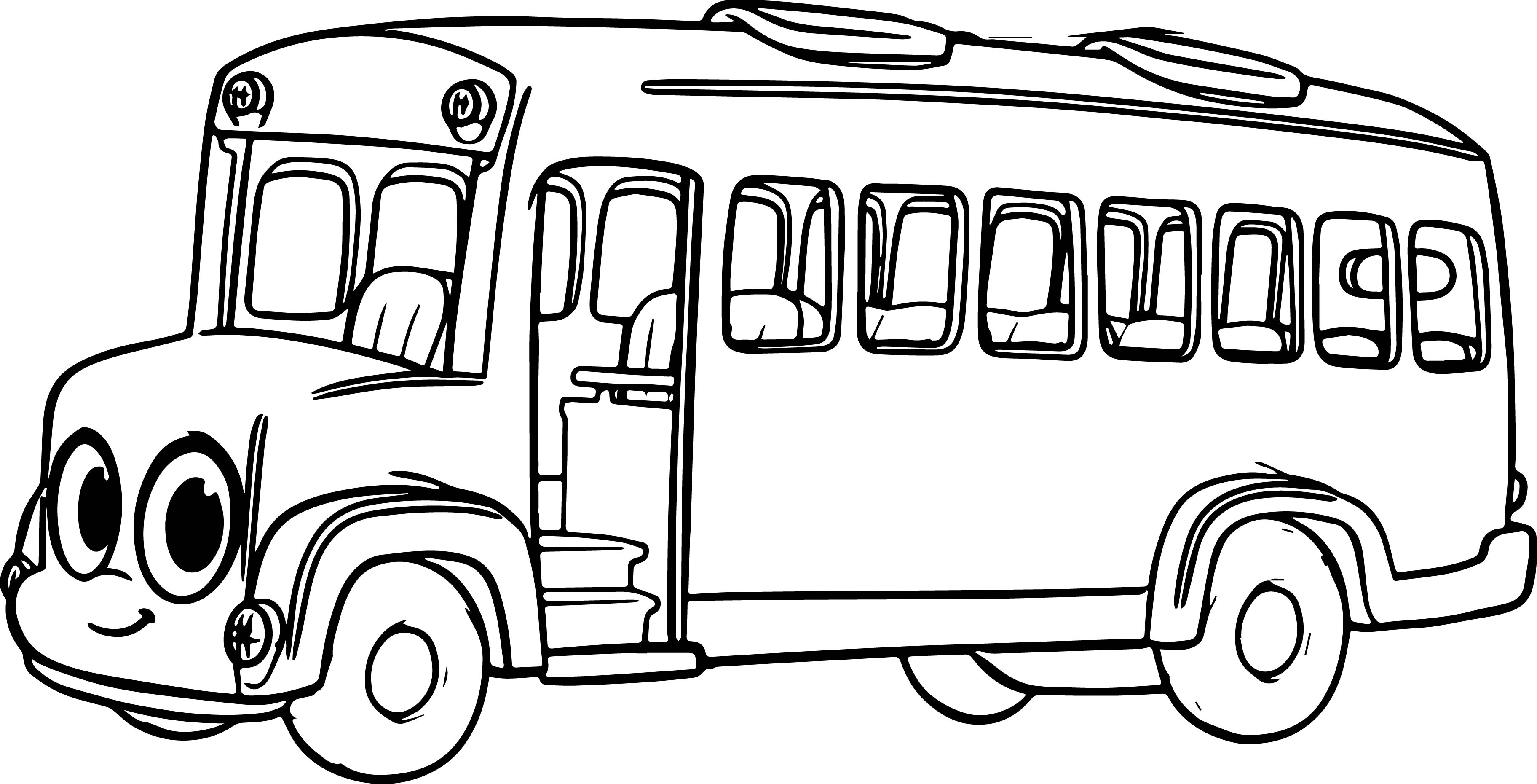 morphle cartoon my cute bus coloring page wecoloringpage