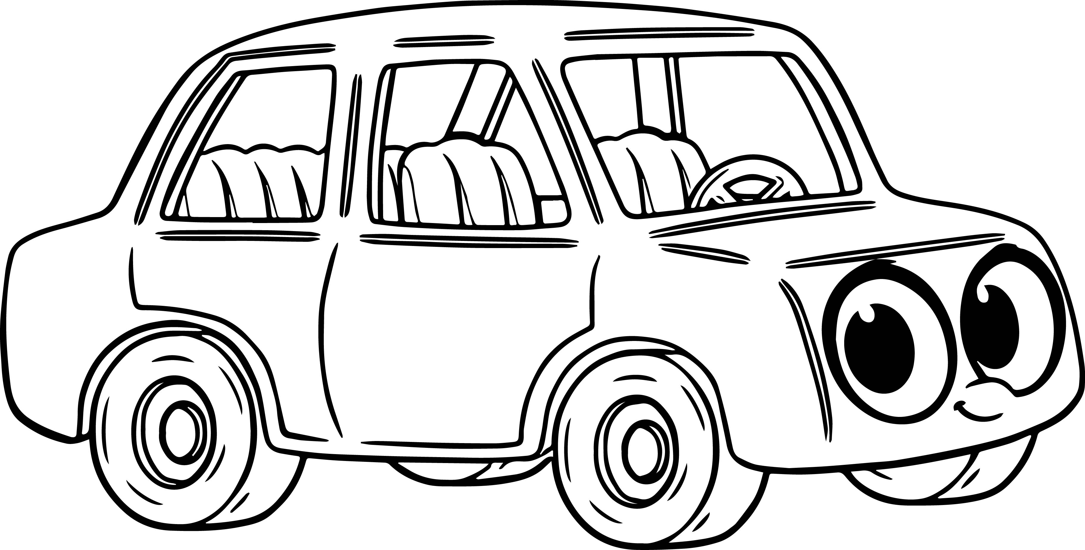Morphle Cartoon My Cute Car Coloring Page