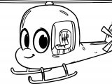Morphle Cartoon My Cute Helicopter Coloring Page