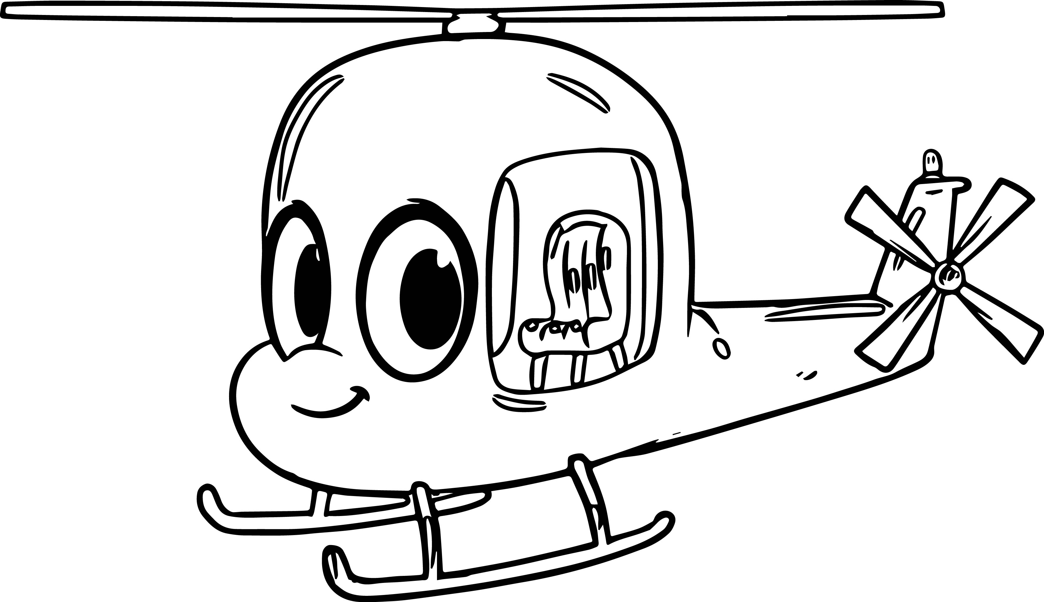 Morphle Cartoon My Cute Helicopter Coloring Page Wecoloringpage