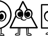 Morphle Cartoon My Cute Shapes Circle Rectrangle Triangle Coloring Page