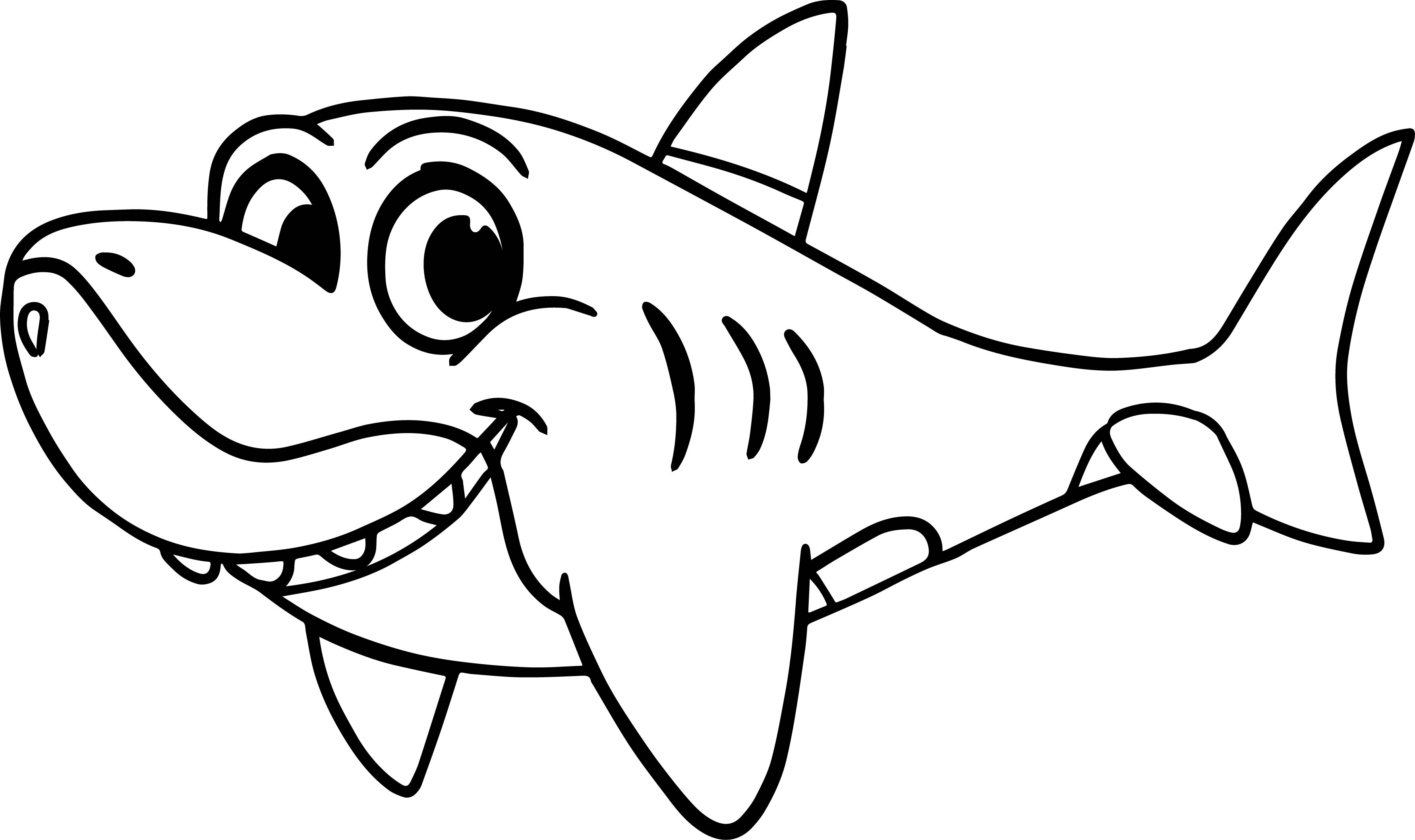 morphle cartoon my cute shark coloring page wecoloringpage