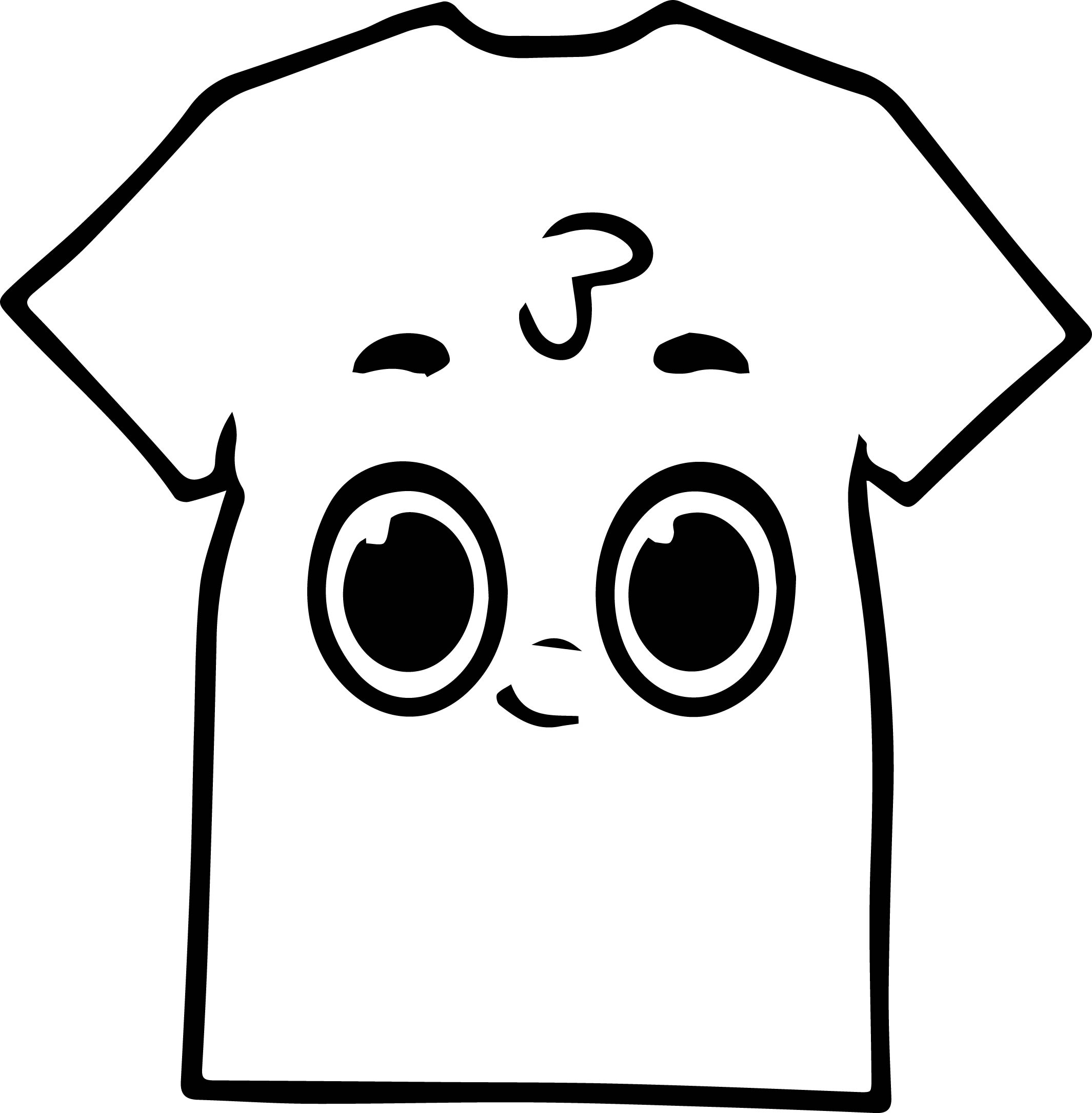 morphle cartoon my cute shirt coloring page