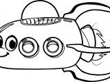 Morphle My Cute Space Shuttle Coloring Page