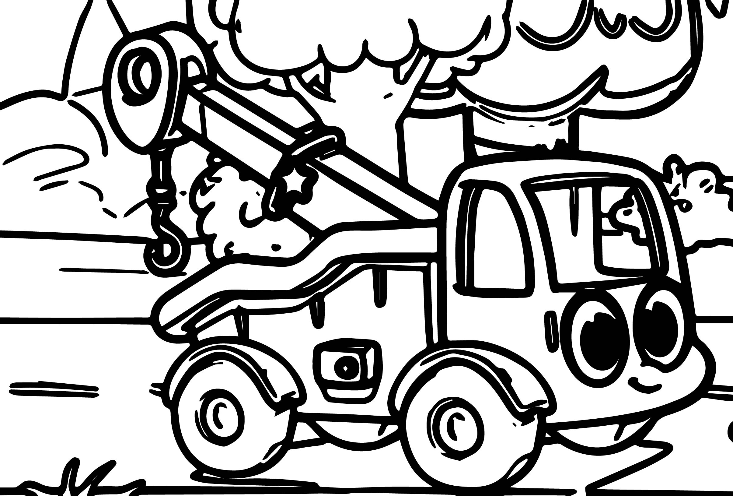 Morphle My Cute Tow Truck Coloring Page