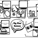 My Five Senses Source Coloring Page