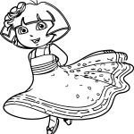 Nick Jr Princess Dora The Explorer Queen Royal Junior Picture Image Coloring Page