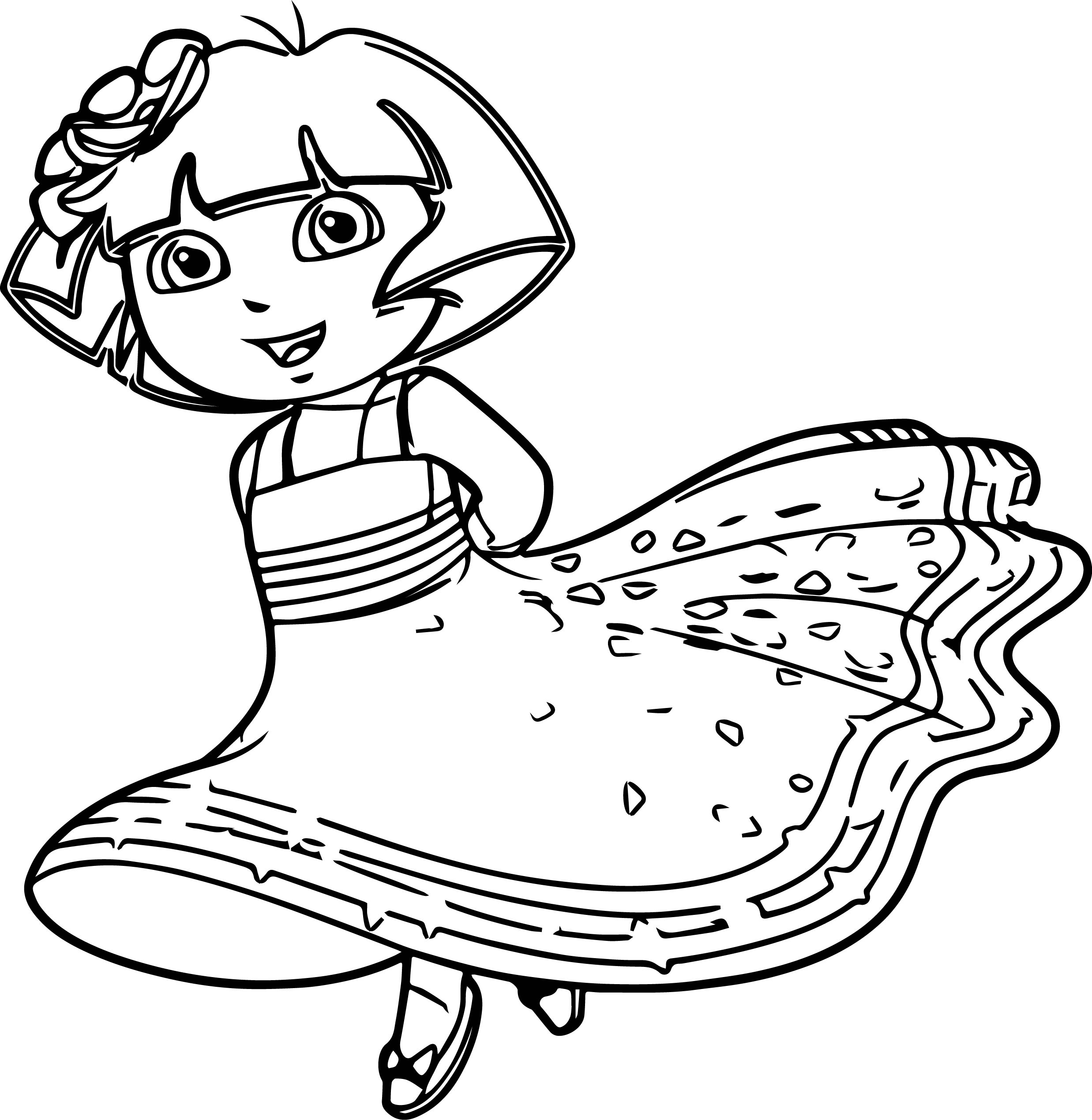 coloring pages dora princess - photo#7