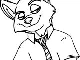 Nick Wilde Fox Coloring Page Zootopia