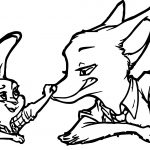 Nick Wilde Judy Hopps Bunny Fox Nose Coloring Page