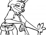 Nick Wilde Judy Hopps Bunny Fox Relax Coloring Page