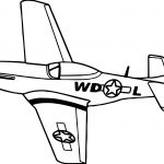Old War Airplane Coloring Page