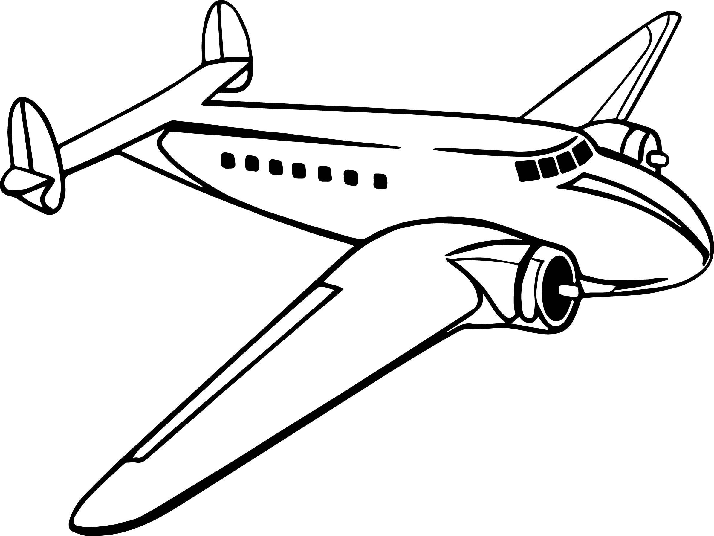 airplane coloring page printable propeller passenger airplane printable coloring page - Airplane Coloring Pages Printable