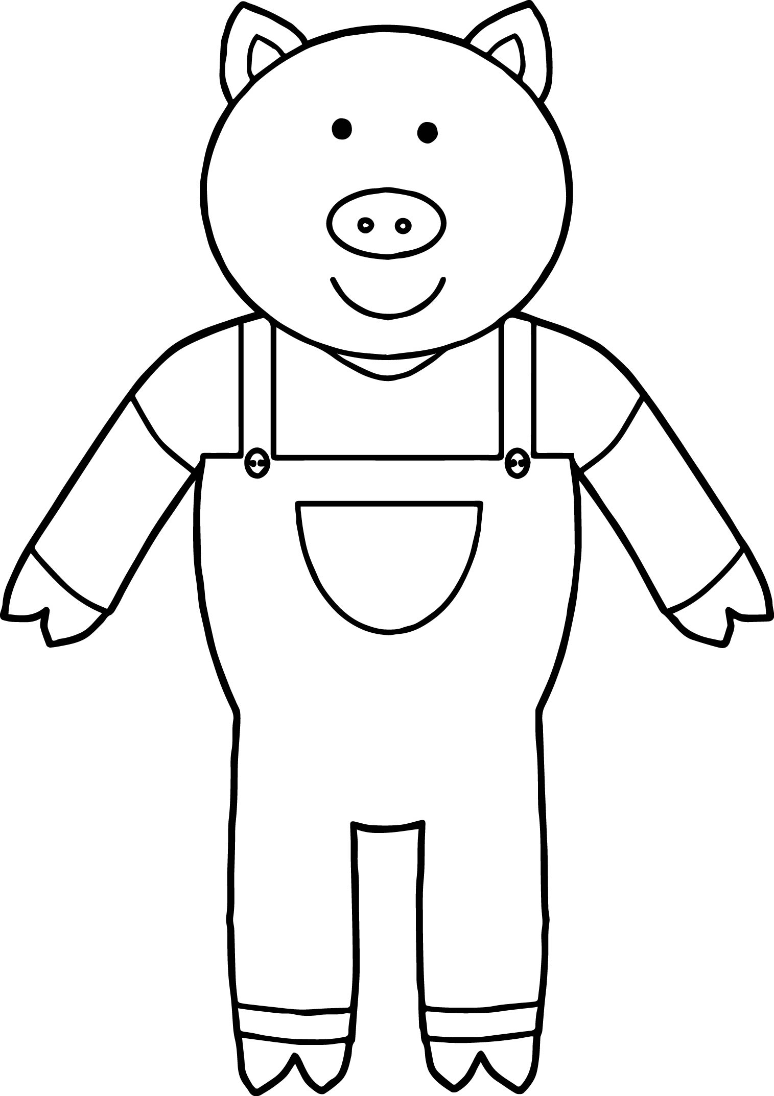 one 3 little pigs coloring page wecoloringpage