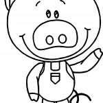 One Cute Little Pig Sequencing Coloring Page