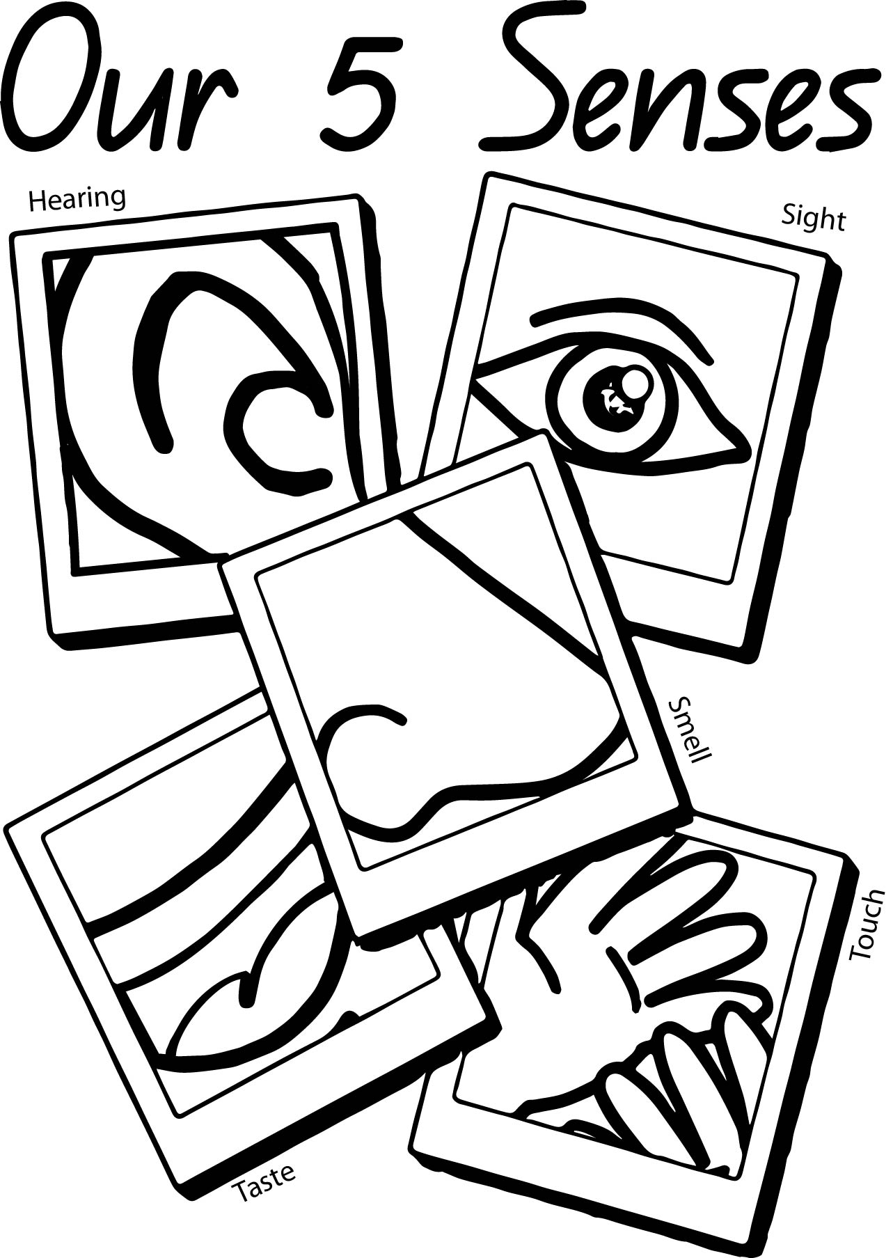 our 5 senses page coloring page wecoloringpage