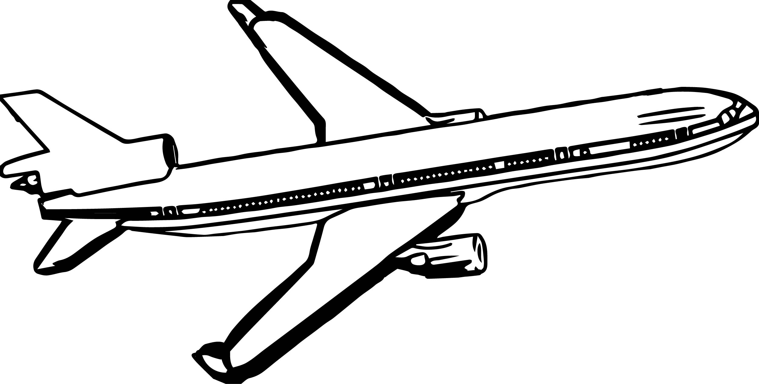 Passanger Airplane Coloring Page