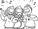 People Singing 3rd Grade Coloring Page