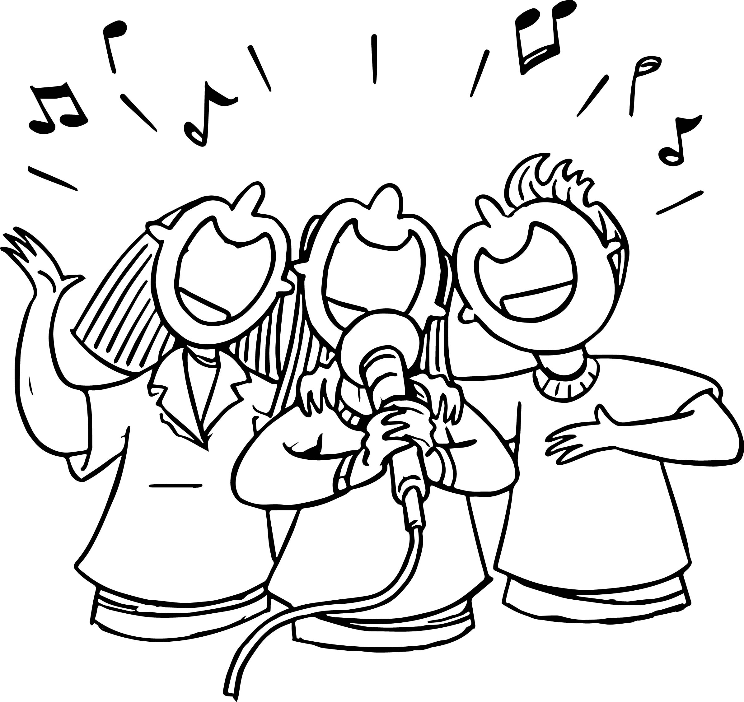 coloring pages of singing - photo#4