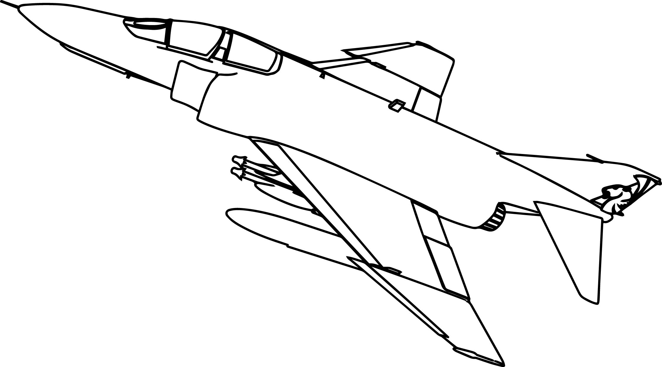 Phantom King Plane Coloring Page Sheet