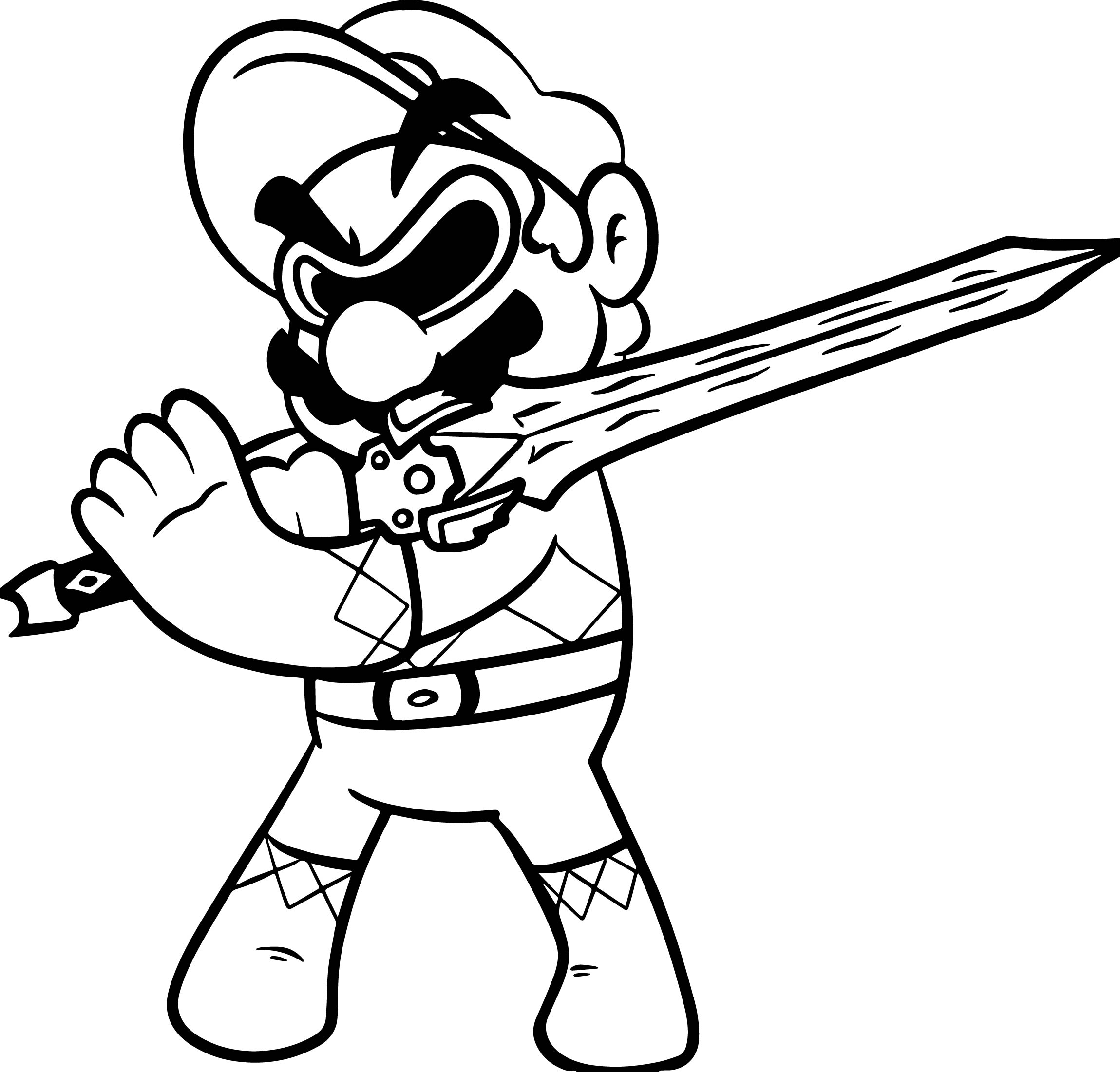Power Ranger Super Mario Coloring