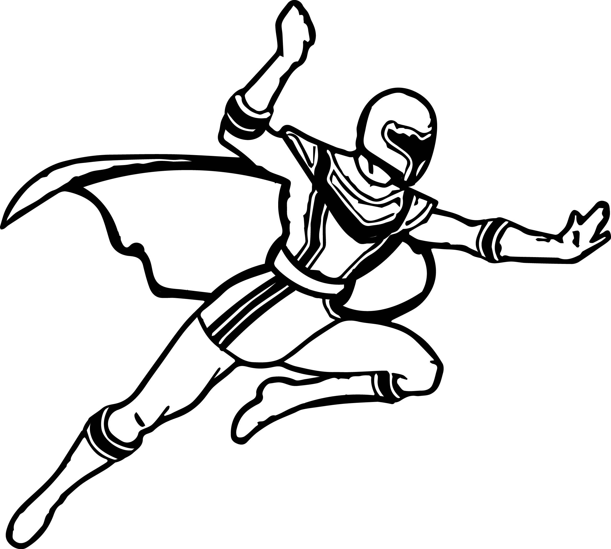 Power Rangers Fly Coloring Page