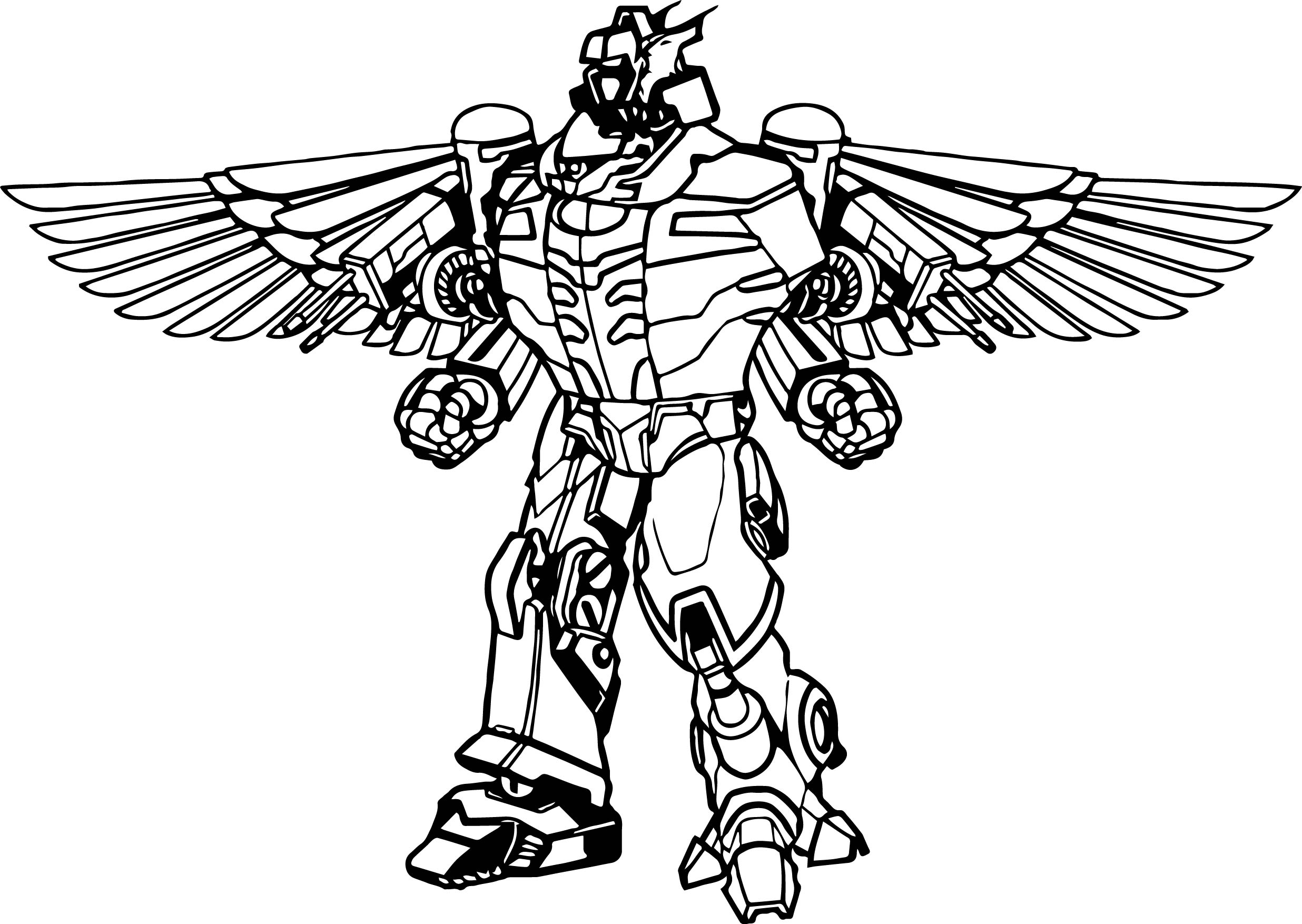 Coloring pictures robot - Power Rangers Robot Coloring Page