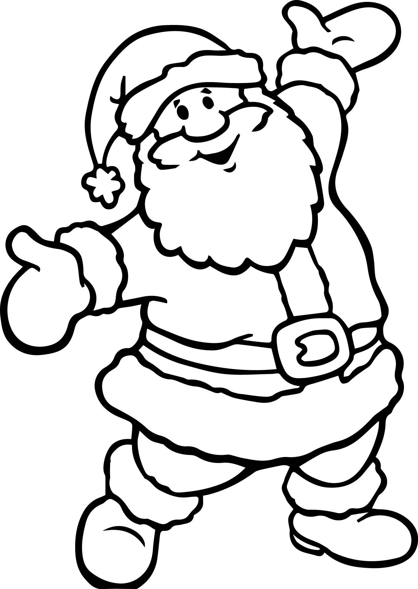 Santa Claus Printable Coloring Pages