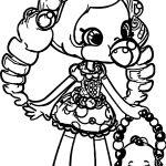 Shopkins Balloon Girl Coloring Page