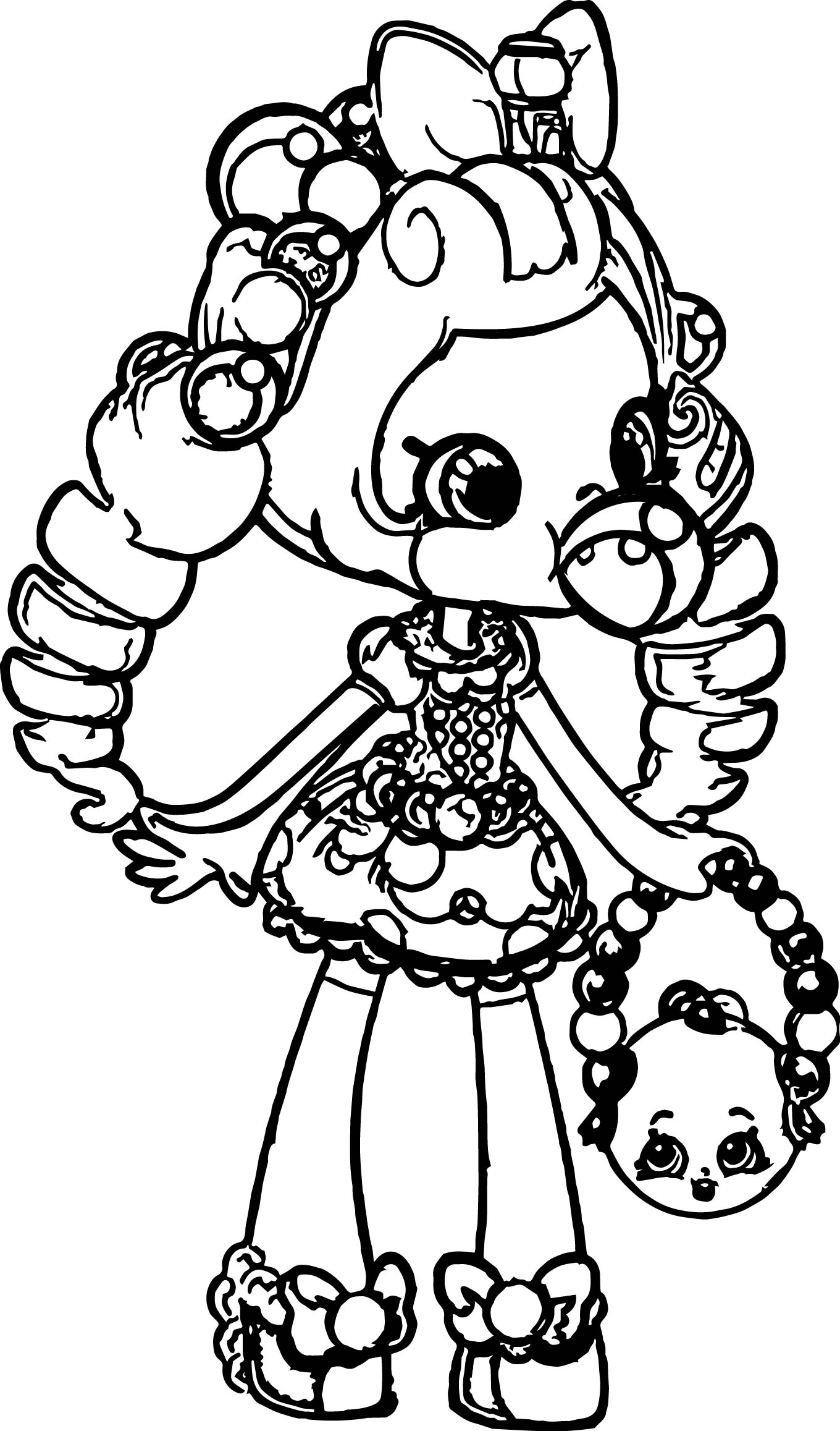 Shopkins Balloon Girl Coloring Page Wecoloringpage