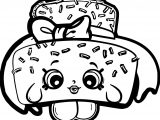 Shopkins Cake Coloring Page