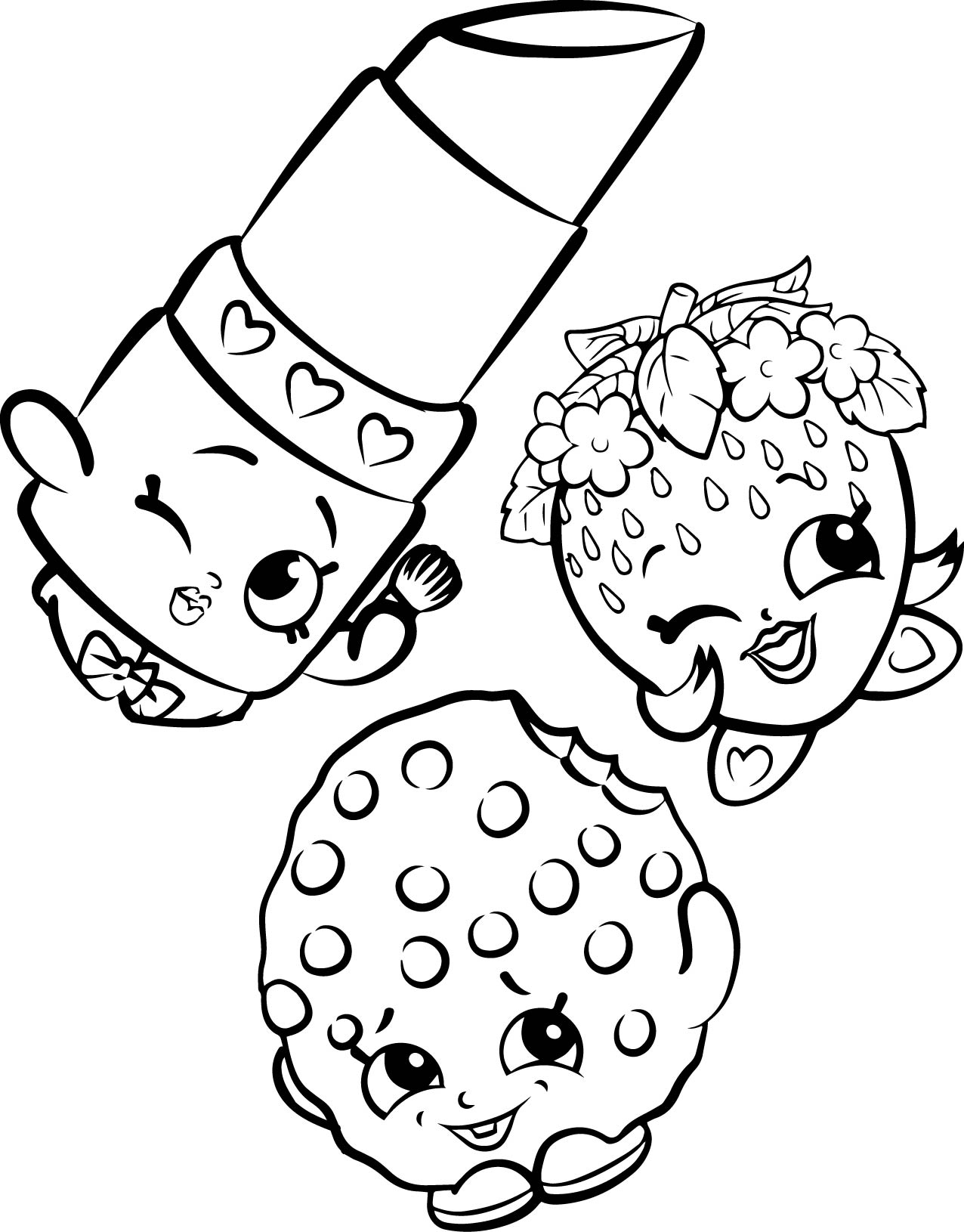 Coloring games of shopkins - Shopkins Coloring Page
