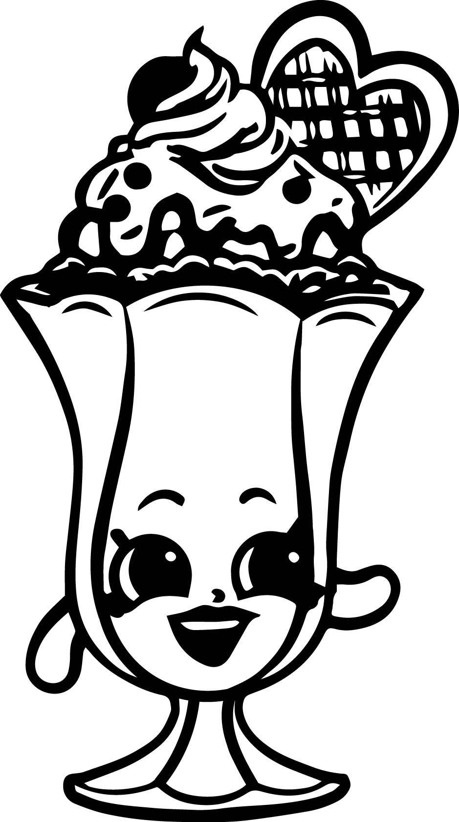 Shopkins Crema Coloring Page