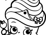 Shopkins Cupcake Queen Coloring Page