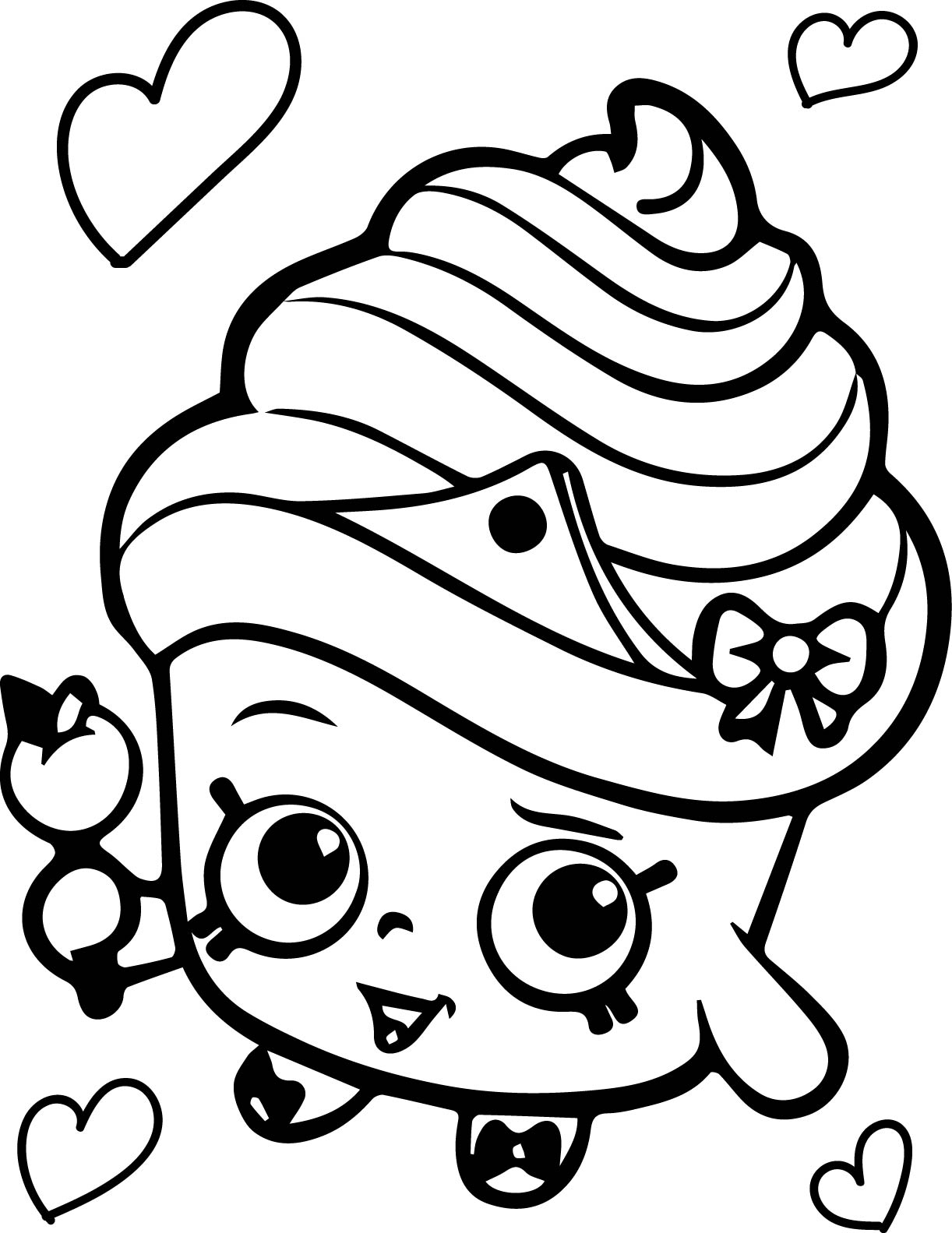 Coloring games of shopkins - Shopkins Cupcake Queen Coloring Page
