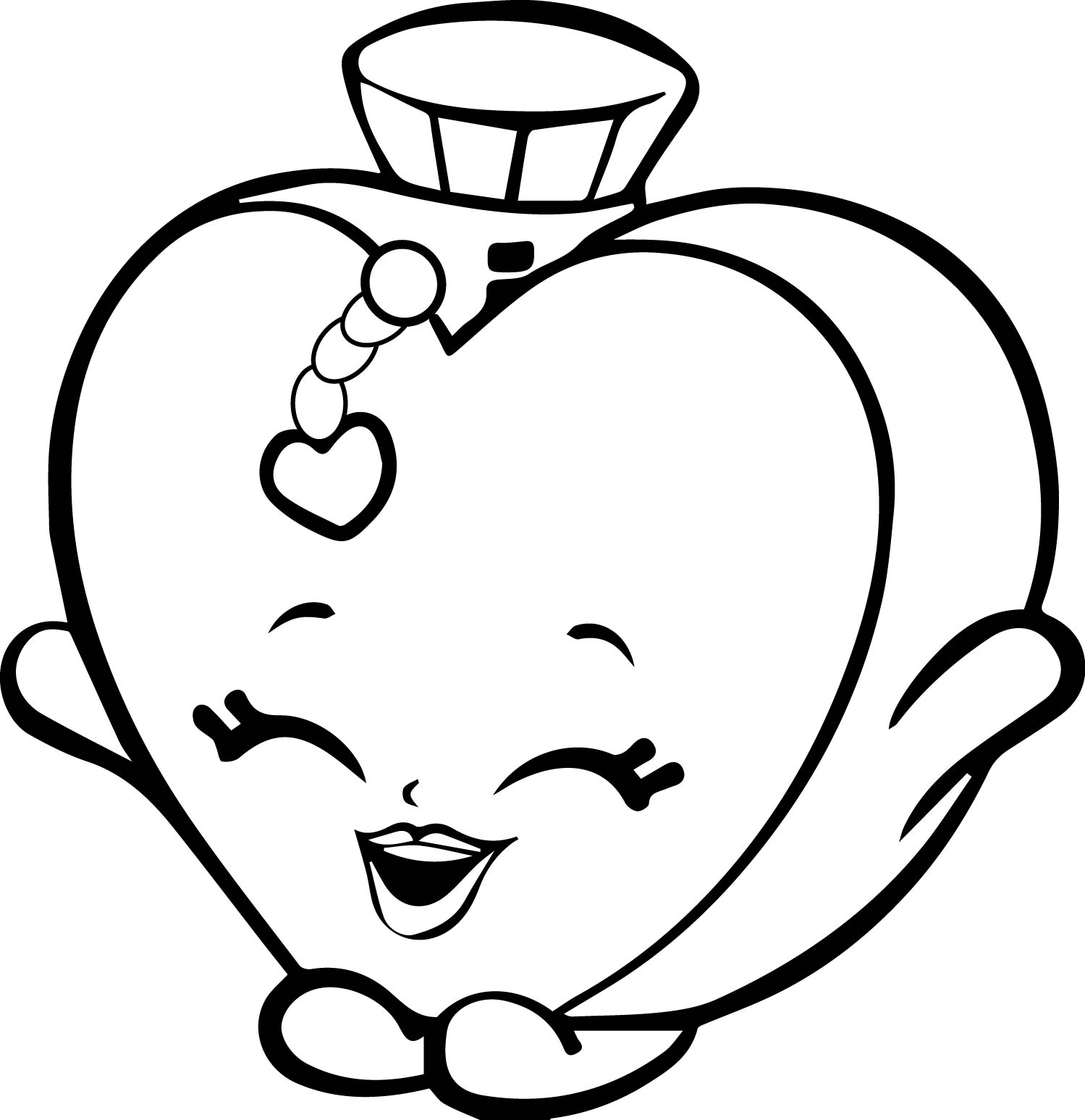 Coloring games of shopkins - Shopkins Parfume Happy Coloring Page