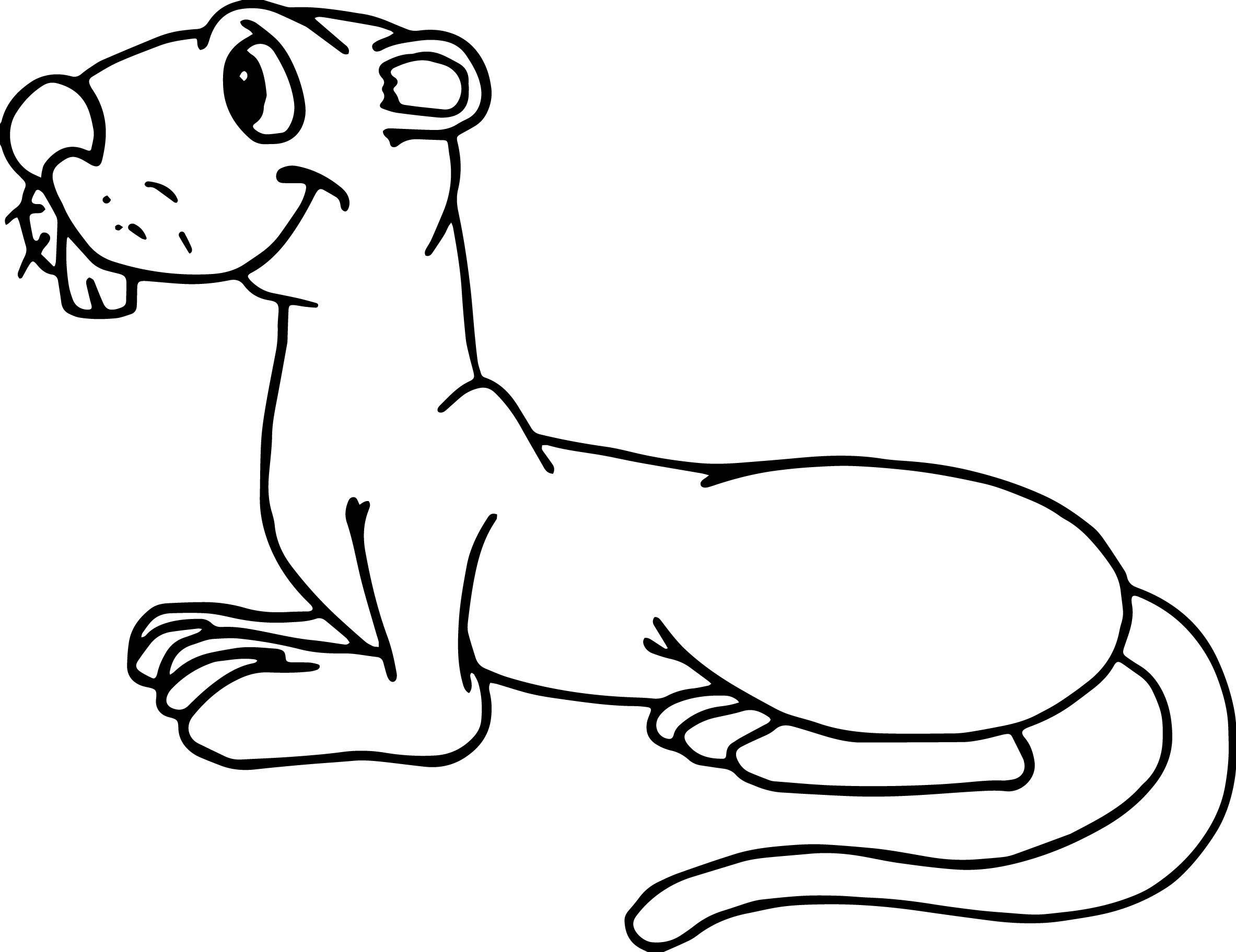 Sit Groundhog Coloring Page